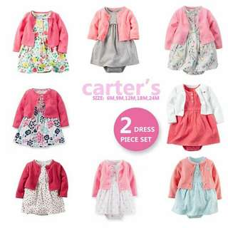 Carter's 2pc cardigan dress set