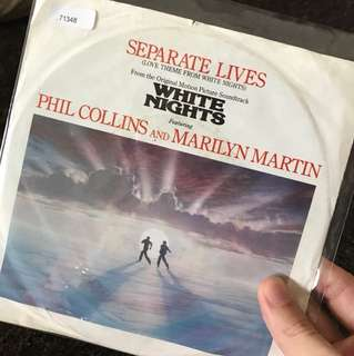 "1985 Phil Colins - Separate Lives ( 7"" Vinyl Record )"