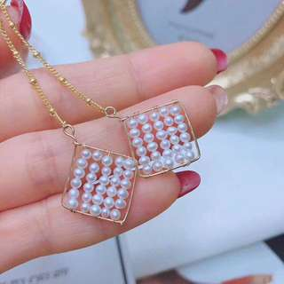 天然珍珠14k金耳墜, 14k gold natural pearl earring , Hand made