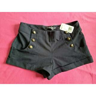 FOREVER 21 NAVY BLUE HIGH WAISTED SHORTS