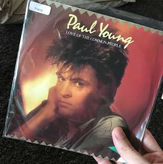 "1983 Paul Young - Love of the Common People ( 7"" Vinyl Record )"