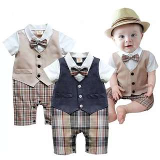 Infant Baby Romper Gentleman Bodysuit Outfit Clothing