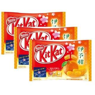 (代購) 日本製造 Nestle KITKAT mini 伊予柑 朱古力 12 粒 (3 包裝)