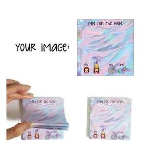 Customized Sticky Notes / Post Its 100 pcs