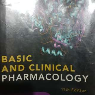 Basic and Clinical Pharmacology 11th Edition International Edition - Katzung