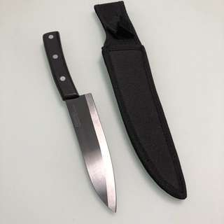 "Black ceramic knife 7"" (African Blackwood handle)"