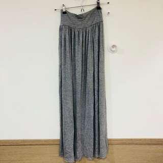 二手 深灰 氣質復古長裙