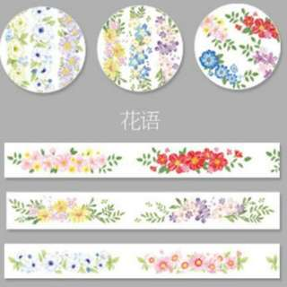 Floral Washi Tapes