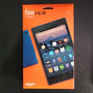 Fire HD 8 Tablet with Alexa (Blue) *Brand New*