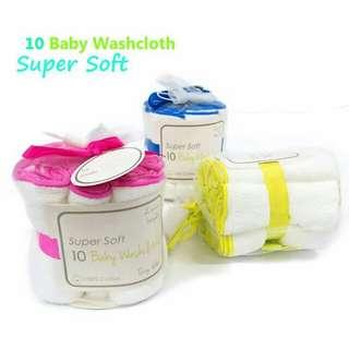 10 in 1 super soft cotton baby wash cloth