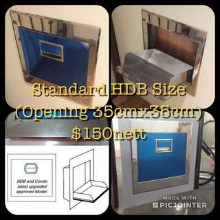Stainless Steel Rubbish Chute Hopper And Renovation Services