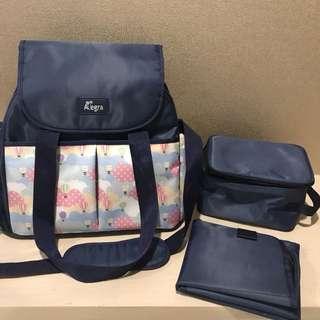 Allegra Charlie Cooler Diaper Shoulder Bag (Tas Popok/Tas Bayi/Nappy Bag)