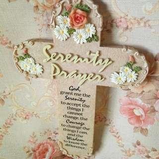 Beautiful Cross with Serenity Prayer
