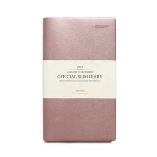 B5 ROSE GOLD Leather Monthly Planner