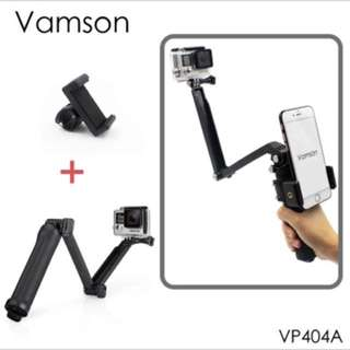 GoPro Tripod Stick 3 way + phone clip