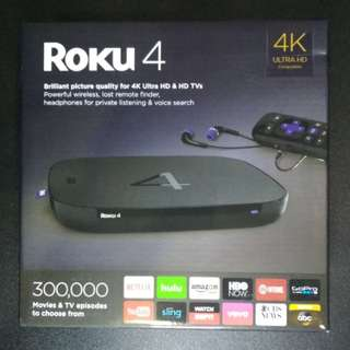 Roku 4 Streaming Media Player (4K/UHD)