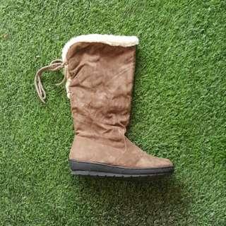 Winter Velvet Boots (Brown)