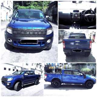 SAMBUNG BAYAR/CONTINUE LOAN  FORD RANGER 2.2 XLT AUTO YEAR 2012 MONTHLY RM 972 BALANCE 3 YEARS 7 MONTHS ROADTAX JULY 2018 TIPTOP CONDITION  DP KLIK wasap.my/60133524312/ranger