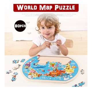 💡 TOI THE WORLD MAP PUZZLE