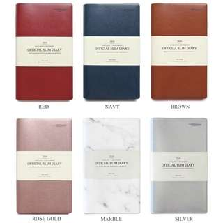 Slim Diary - 6 Colours
