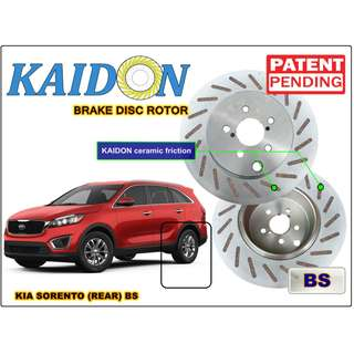 "KIA Sorento brake disc rotor KAIDON (REAR) type ""RS"" / ""BS"" spec"