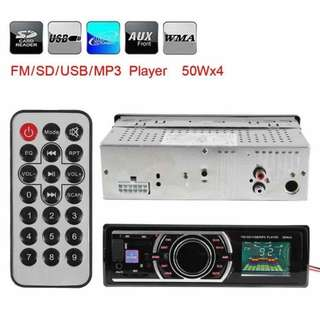 Car Stereo FM Radio HD MP3 Receiver Deck USB AUX Unit SD Dash Audio Music USB/SD AUX Audio Player 1 DIN In-Dash Radio - intl