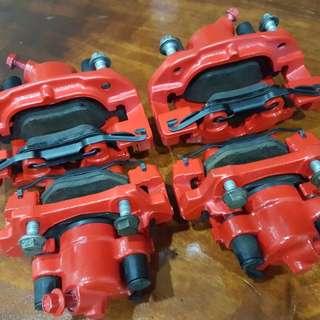 E46 front & rear caliper