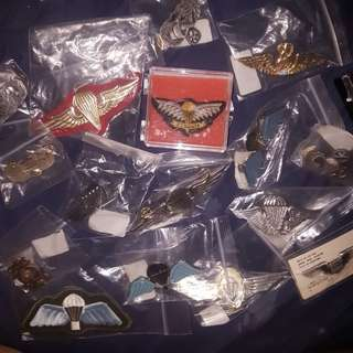 Airborne Badges and Pin collection