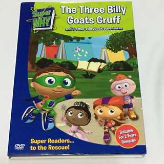 1DVD•30% OFF GREAT CNY SALE {DVD, VCD & CD} Brand New Super WHY : The Three Billy Goats Gruff and 3 other storybook adventures - DVD