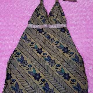 Backless Batik Dress