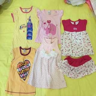Girls Dress / T- Shirt (RM15 For All)