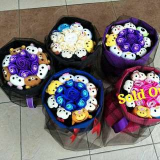 Bouquets for her!