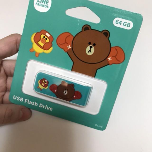 64G USB隨身碟 LINE FRIENDS 熊大