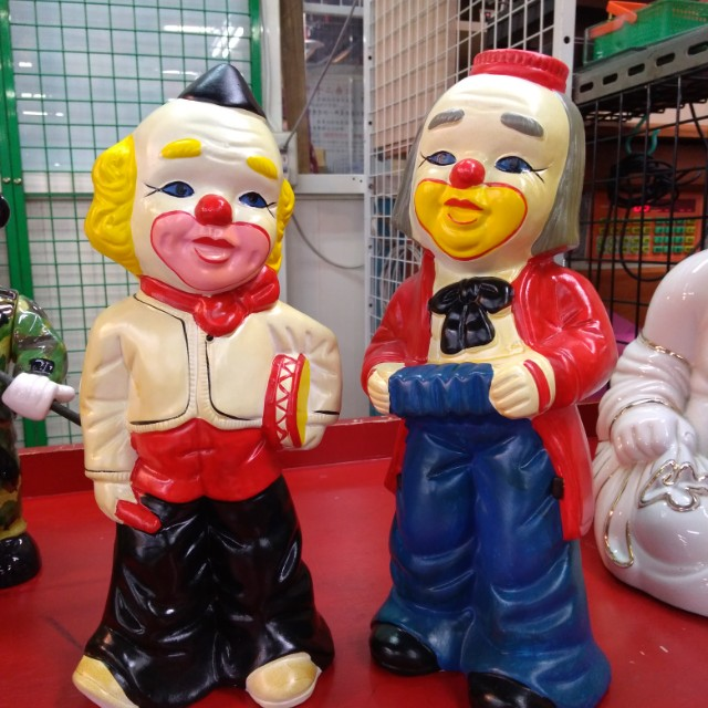可議價……哥倆好…小丑擺飾品