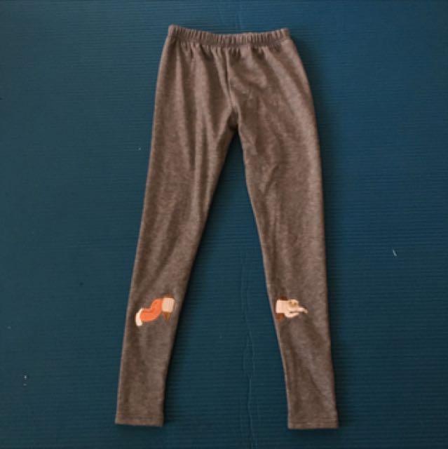 刺繡窄管棉褲