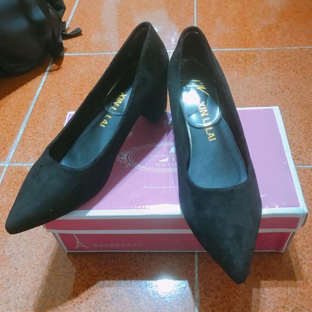 粗跟時尚尖頭鞋