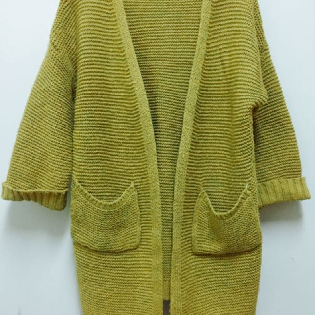 針織長版外套