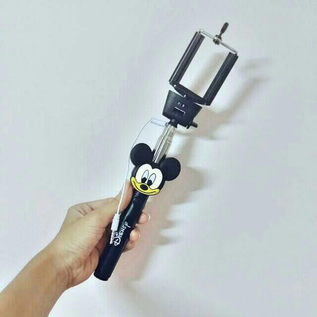 米奇自拍桿  接線自拍桿 自拍棒 全新