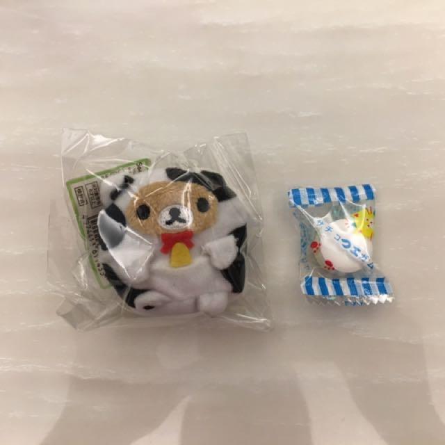 全新 拉拉熊 懶懶熊 日本正貨 乳牛 沙包