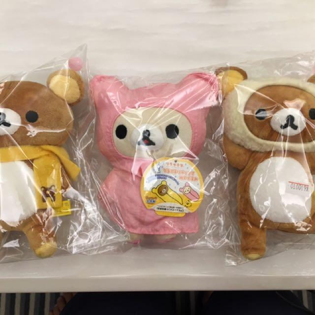 全新 拉拉熊 懶懶熊 日本正貨 圍巾 雨衣 翹腳