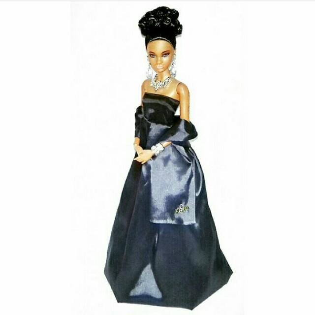 Barbie Dark Blue Evening Gown {Handmade}, Toys & Games, Toys on ...