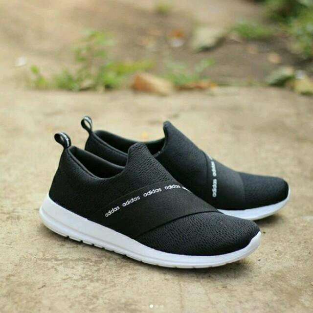 886140822216f6 Adidas Cloudfoam Refine Adapt Slip On Black White Original BNWB ...