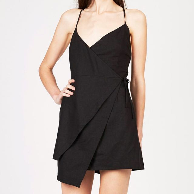 Alice in the eve linen wrap dress