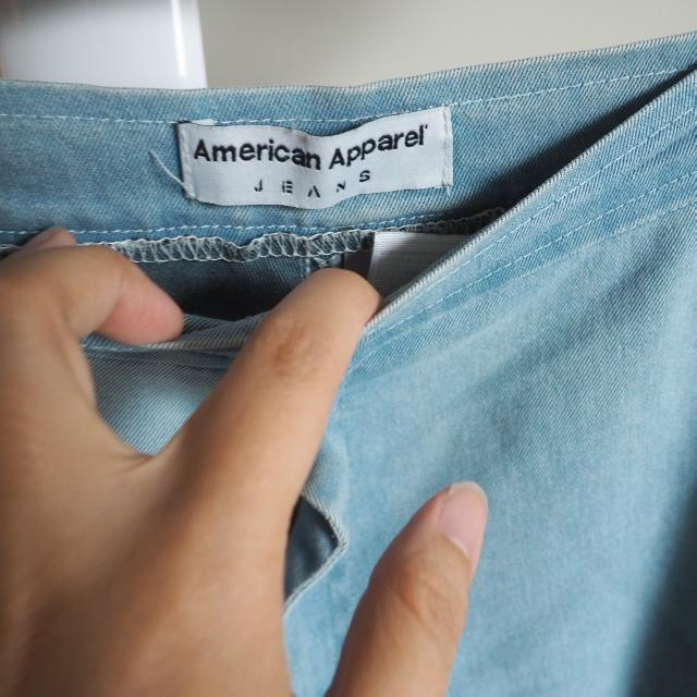American Apparel Classic High Waisted Denim Jeans