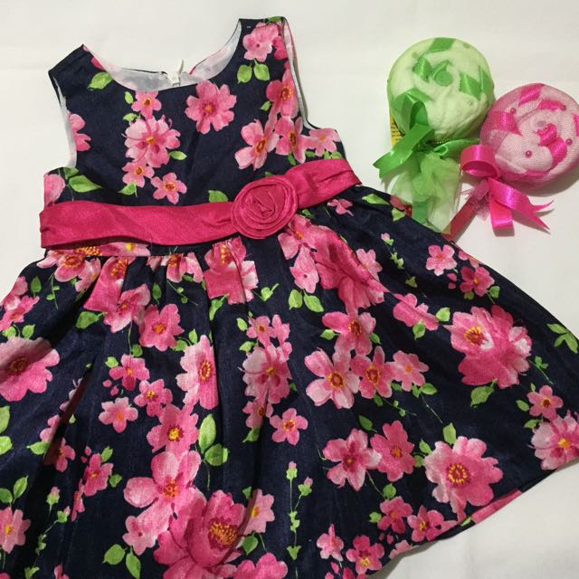 American Princess floral dress with diaper cover.