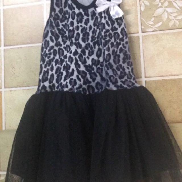 Animal print dress (tutu)