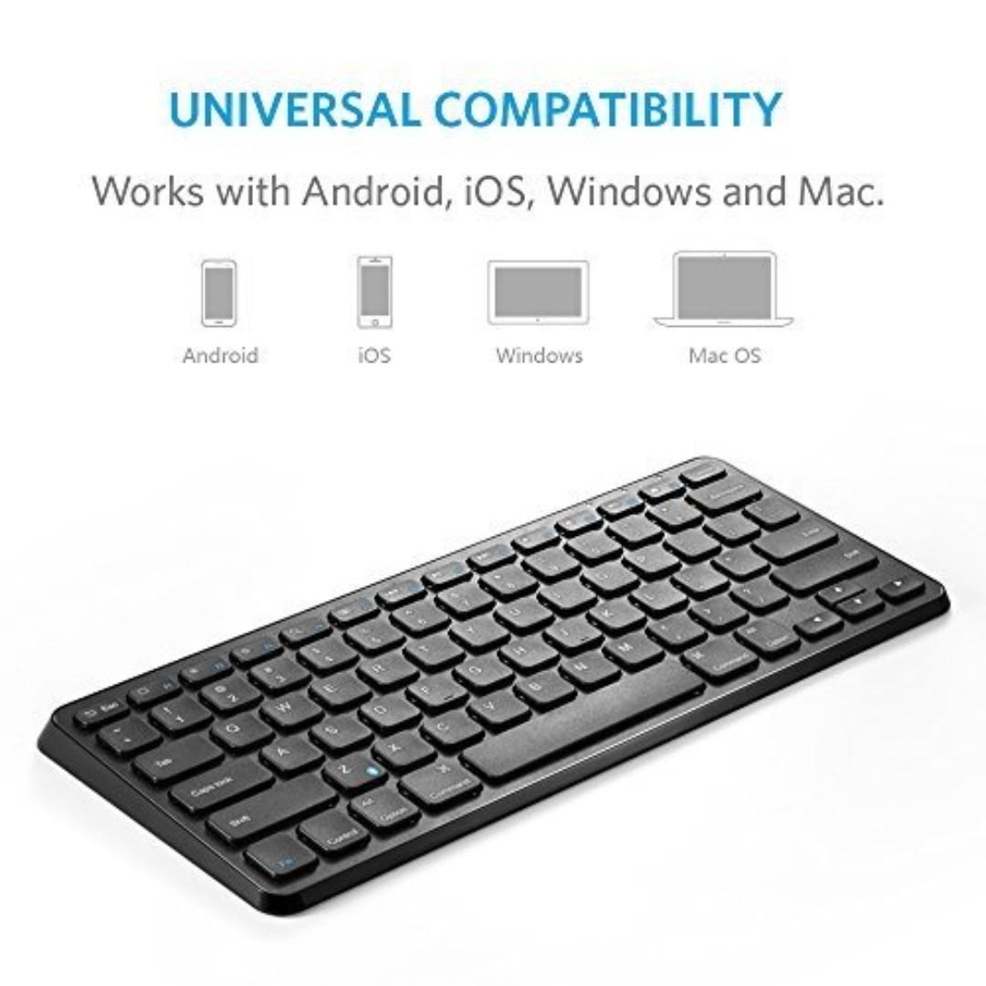 c06f17c5b09 Anker Ultra Compact Slim Profile Wireless Bluetooth Keyboard ...
