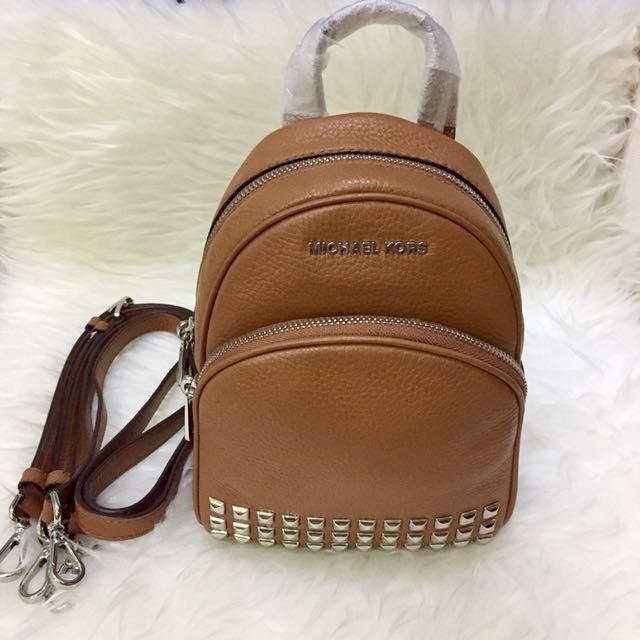 948b4019ba9f51 Authentic NWT Michael Kors Abbey Studded Backpack XS Acorn, Luxury ...