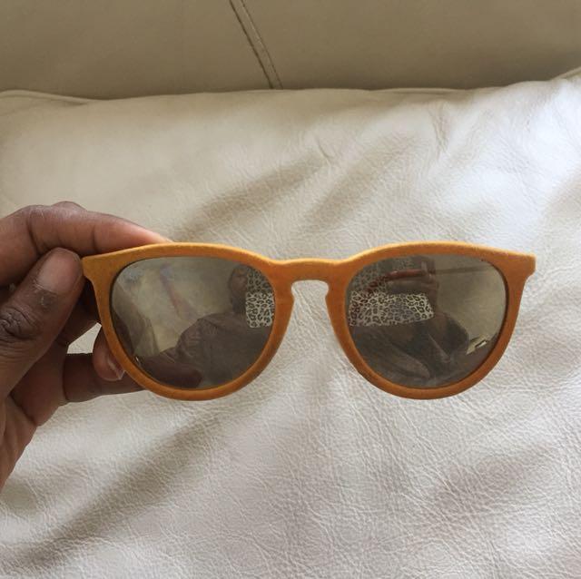 Authentic Rayban orange fabric sunglasses