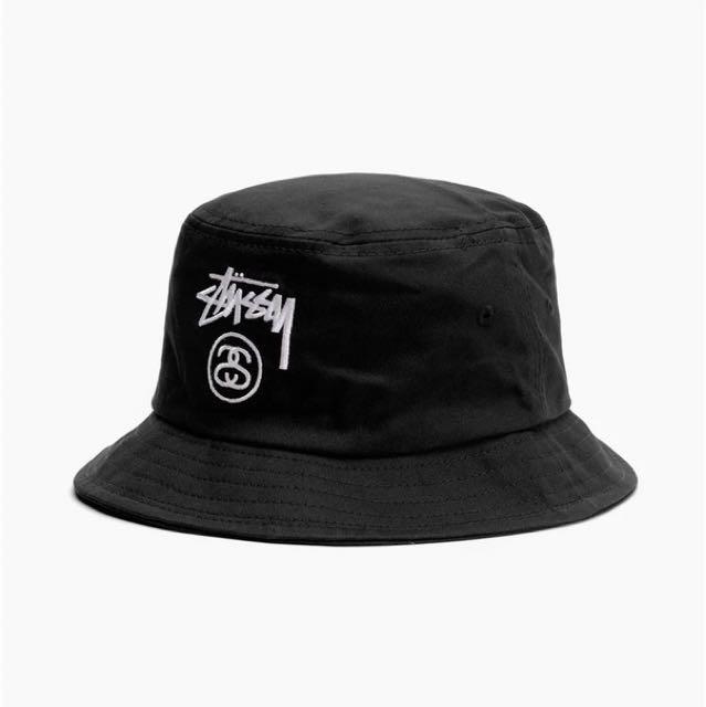 AUTHENTIC Stussy Black Bucket Hat 086c5152a438